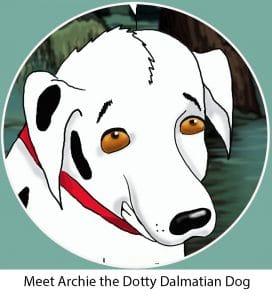Archie the Dotty dalmation dog