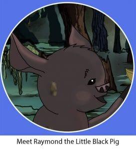 Character-Raymond the black Pig